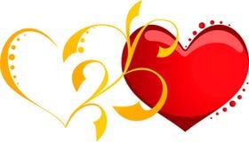 Coeur de deux amoureux illustration libre de droits