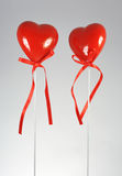 Coeur de deux rouges Image libre de droits