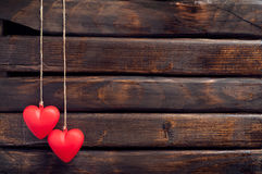 Coeur de deux rouges Images stock