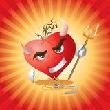 Coeur de diable illustration libre de droits