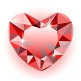 Coeur de diamant Photos stock
