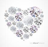 Coeur de diamant Image libre de droits