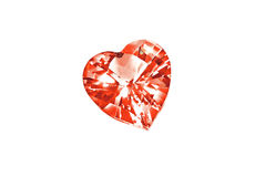 Coeur de diamant d'isolement sur le fond blanc Image stock