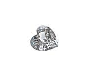 Coeur de diamant d'isolement sur le fond blanc Photographie stock libre de droits