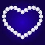 Coeur de diamant de vecteur Photographie stock libre de droits