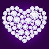 Coeur de diamant de vecteur Image libre de droits