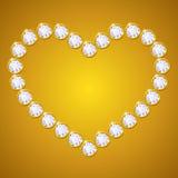 Coeur de diamant de vecteur Images stock