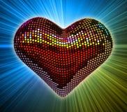 Coeur de disco Photographie stock