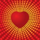 Coeur de disco Photographie stock libre de droits