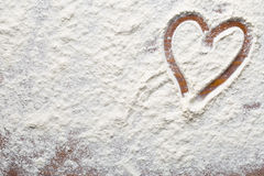 Coeur de farine Photo stock