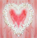 Coeur de farine d'avoine Photographie stock