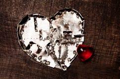 Coeur de fer et coeur en verre Photo libre de droits