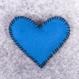 coeur de feutre de bleu Photos libres de droits