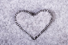 Coeur de feutre de valentines Photos stock