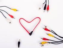 Coeur de fil de câble Images libres de droits