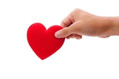 Coeur de fixation de main image libre de droits