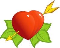coeur de flèche Photo stock