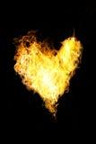 Coeur de flamme photographie stock libre de droits