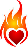 Coeur de flamme Photos libres de droits