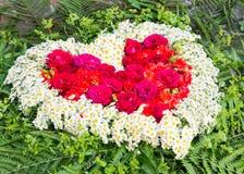 Coeur de fleur Image libre de droits