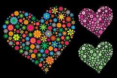 Coeur de fleur illustration de vecteur