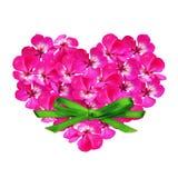 Coeur de fleur et un arc Photo libre de droits