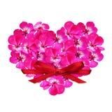 Coeur de fleur et un arc Image libre de droits
