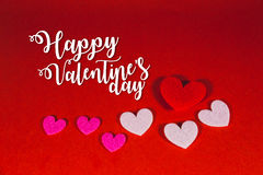 Coeur de fond, Valentine& x27 ; s Image stock