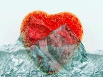 Coeur de fonte Image libre de droits