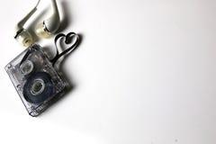 Coeur de forme de bande de cassette sonore Photos stock