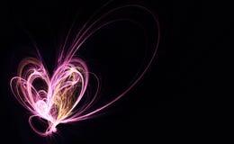 Coeur de fractale Images stock