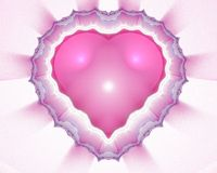 Coeur de fractale Photos libres de droits