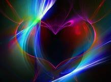 Coeur de fractale Image stock