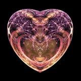 Coeur de fractale d'isolement par obscurité illustration stock