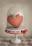 Coeur de fraise Image stock
