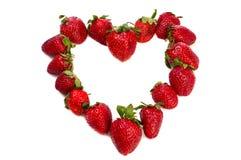 Coeur de fraise Images libres de droits