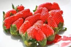 Coeur de fraise Photo libre de droits