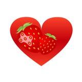 Coeur de fraise Illustration Stock