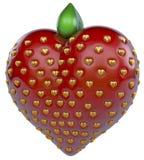 Coeur de fraise, fraise de coeur Image libre de droits