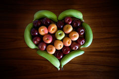 Coeur de fruit Photo stock