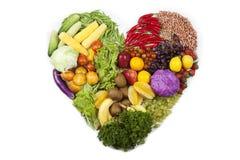 Coeur de fruits et légumes Image stock