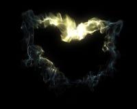 Coeur de fumée Photos libres de droits