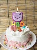Coeur de gâteau de crème de vanille d'amour Image libre de droits