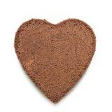 Coeur de gâteau de Chocolat Photos stock