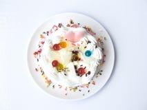 coeur de gâteau doux d'amour Images stock