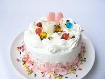 coeur de gâteau doux d'amour Image libre de droits