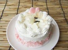 coeur de gâteau mignon doux de crème de vanille d'amour Photo stock