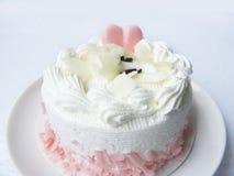 coeur de gâteau mignon doux de crème de vanille d'amour Photo libre de droits
