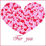 Coeur de gemme de Rubin Sur le blanc Photographie stock
