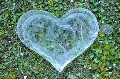 Coeur de glace, concept d'amour Images libres de droits